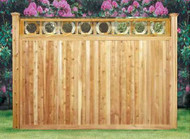 LAKEVIEW Cedar Fence PREMIUM Ring Top ,Pre-Built Good Neighbor, both sides finished as shown in picture