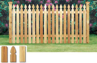 SIMSBURY Cedar Fence French Gothic Spaced Picket Pre-Built Sections