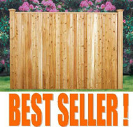 FAIRFIELD Cedar Wood Premium Pre-Built Fence Panel, T &G with Backer Rails, trim Cap- Front Side Panel Shown
