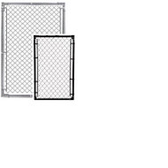 "Chain Link Fence Gates - 1-5/8"" Frames SELF ASSEMBLY, with Hinges & Latch, Buy 2 for Double gate opening"