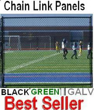 Chain Link Fence Panel - Black & Green Portable - Kit