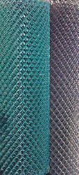 "Pool Mesh - Chain Link Fence Galvanized Steel Wire with Vinyl Coating. Black, Green 1-1/4"" , Price is for 50 ft Roll"
