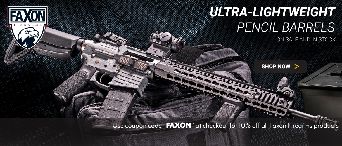 """Ultra-Lightweight Faxon Pencil Barrels - On Sale and in Stock - 10% off using coupon code """"FAXON"""""""