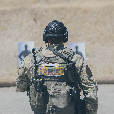 Police Officer in Range Gear