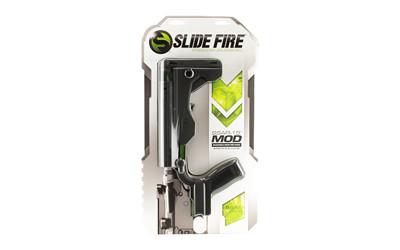 Slide Fire SSAR-15 MOD Bump Fire Stock AR-15 Mil-Spec Diameter Ambidextrous Polymer Black Package