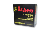 TulAmmo 7.62x39mm Ammunition 100 Rounds, Steel Case HP 124 Grains