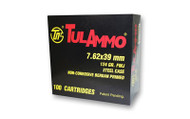 TulAmmo 7.62x39mm Ammunition 40 Rounds, Steel Case FMJ 124 Grains