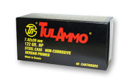TulAmmo 7.62x39mm Ammunition 40 Rounds, Steel Case HP 122 Grains