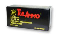 TulAmmo 7.62x39mm Ammunition 40 Rounds, Steel Case HP 124 Grains