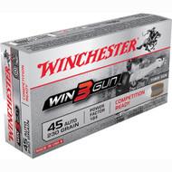 Winchester 45ACP 230 Grain Win3Gun Ammo 50rds
