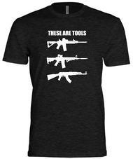 Tools vs. Weapon T-Shirt Front