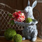Raz Rabbit withLeaf Dish