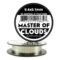50 ft - 0.4 mm x 0.1 mm Kanthal A1 Flat Ribbon Wire