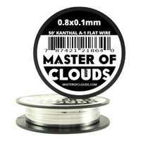 50 ft - 0.8 mm x 0.1 mm Kanthal A1 Flat Ribbon Wire