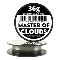 25 ft - 36 Gauge AWG A1 Kanthal Round Wire