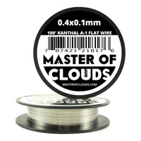 100 ft - 0.4 mm x 0.1 mm Kanthal A1 Flat Ribbon Wire
