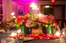 Mitzvah Flowers in Pinks