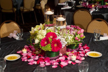 Bat Mitzvah Flowers in Pinks and Greens