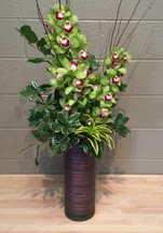Cymbidiums in Cylinder | Washington DC | Palace Florists