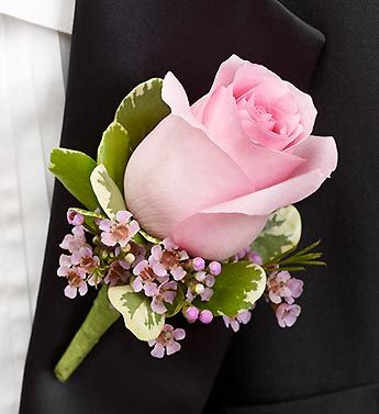 standard pink rose boutonniere in rockville md and washington dc palace florists