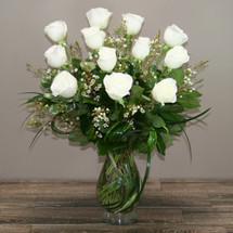 One dozen royal white roses in Washington DC and Rockville MD, Palace Florists