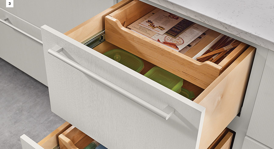KraftMaid Base Multi-Storage Drawers