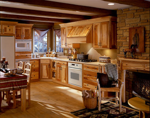 Rustic Hickory Kitchen in Natural