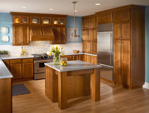 Cherry Kitchen in Sunset with Satina Glass Doors