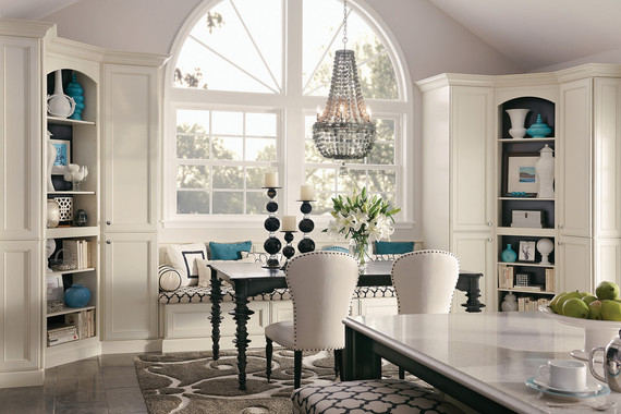 Maple Dining Area In Canvas And Onyx Kraftmaid