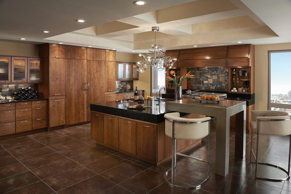 Kitchen Featuring Vauxhall Glass Doors Kraftmaid