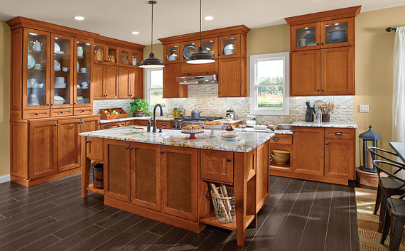 Cherry Kitchen In Praline Kraftmaid