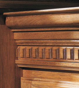 Classic Crown Molding with Dentil Edging