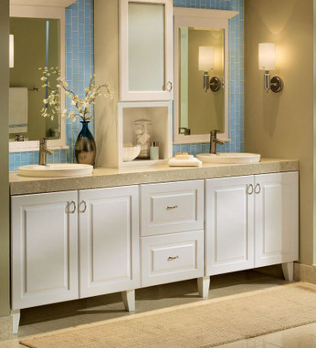 Tapered leg used on a vanity kraftmaid - Using kitchen cabinets for bathroom vanity ...