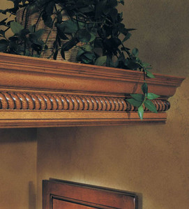 Large Rope Molding with Classic Crown as Shelf Detail
