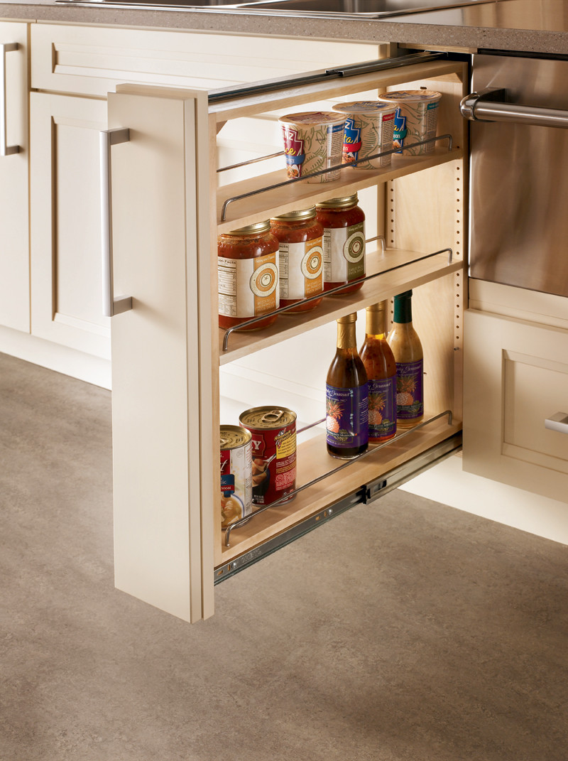 spice rack kitchen cabinet base filler pull out kraftmaid 5650