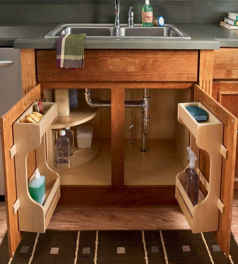 Kitchen Sink Cabinet Plans: Sink Base Multi-Storage Cabinet