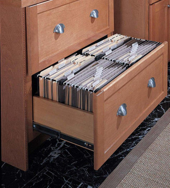 Wood lateral file cabinet