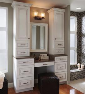 Desk Knee Drawer as Part of a Vanity Dressing Area