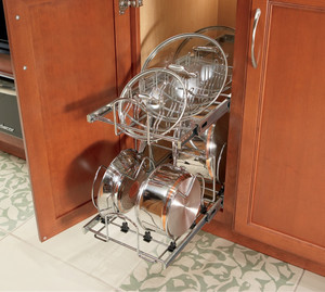 Tiered Pan and Lid Storage Pull-out Kit