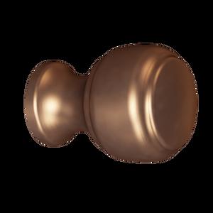 Brushed Bronze Crescent Knob