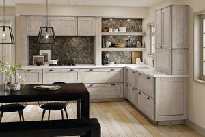 Maple Kitchen in Aged Concrete