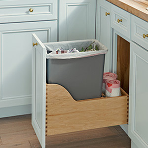 Slim Base Top-Mount Wastebasket