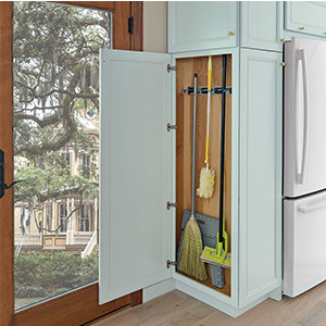 Shallow Integrated Utility Cleaning Cabinet