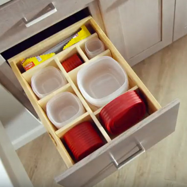 Kraftmaid Multi Sized Deep Drawer Organizer With Storage