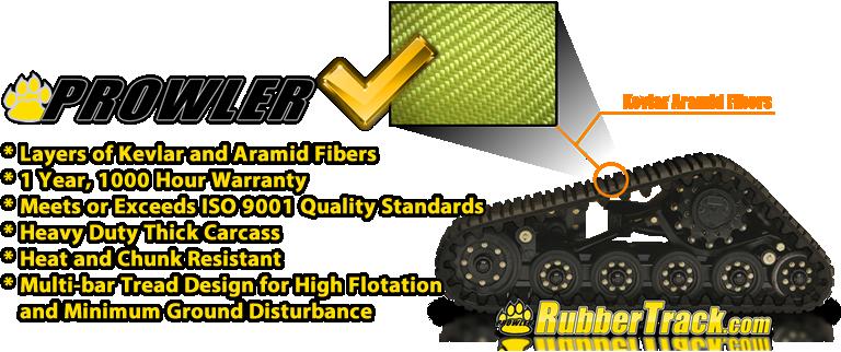 premium mtl prowler rubber track design