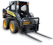 skid steer heavy duty pallet forks