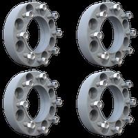 8 Lug 2 Inch Gray Wheel Spacer 8x8 Set