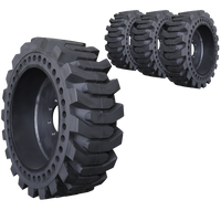 12x16.5 ProFlex Solid Skid Steer Tire And Wheel Set