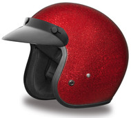 Daytona Cruiser 3/4 Open Face Helmet Red Metal Flake
