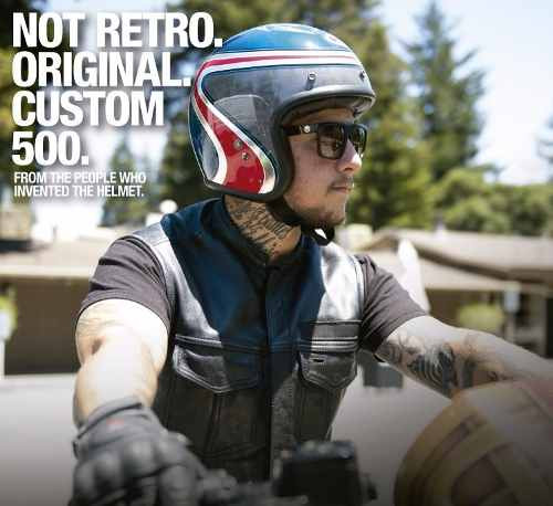 Bell Dual Sport Helmet >> Bell Custom 500 SE Airtrix Heritage Blue/Red Helmet ...